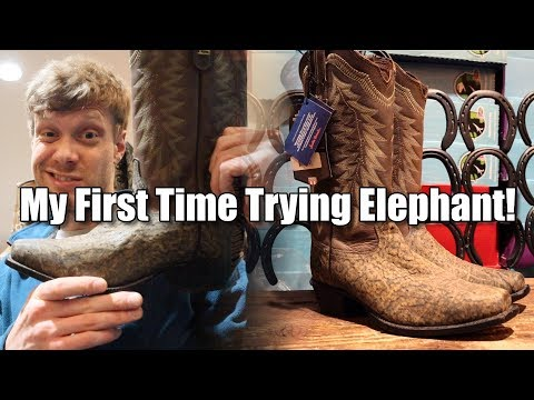 Trying Elephant Cowboy Boots for the First Time!