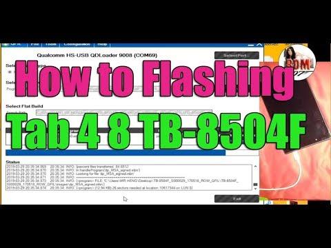 Lenovo Tab TB-8504F Still Hang On LOGO fix by re-flashing Firmware