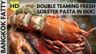 Double Teaming Fresh Maine Lobster with Mark Wiens in Bangkok!
