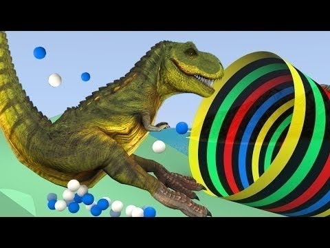 Water park slide with Dinosaurs - video for children