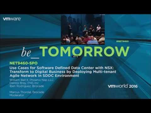 Recording: Use Cases for Software Defined Data Center with NSX - VMworld 2016 Las Vegas