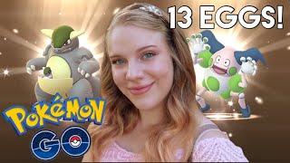 HATCHING 13 SHINY REGIONAL EGGS in Pokémon Go! Ultra Bonus Week 2! (Sock Hack)