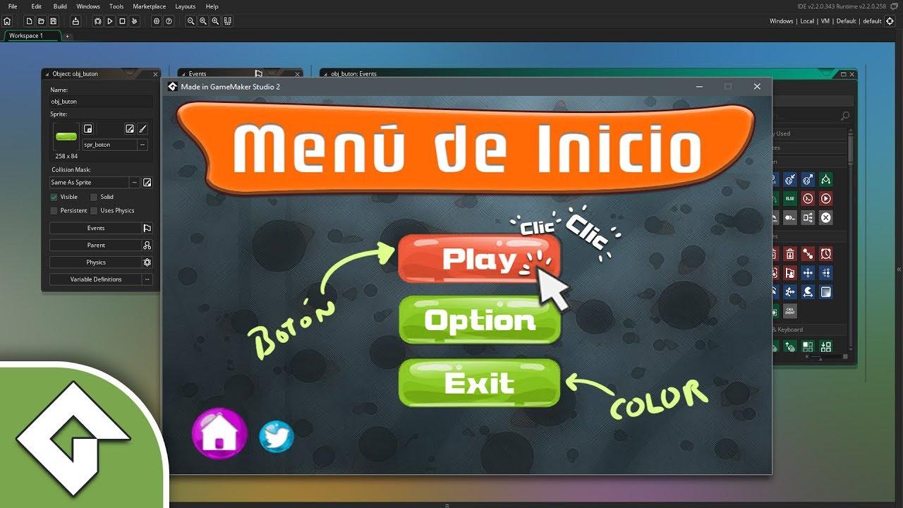 Como poner un Menu de Inicio en Game Maker (Todas las versiones)
