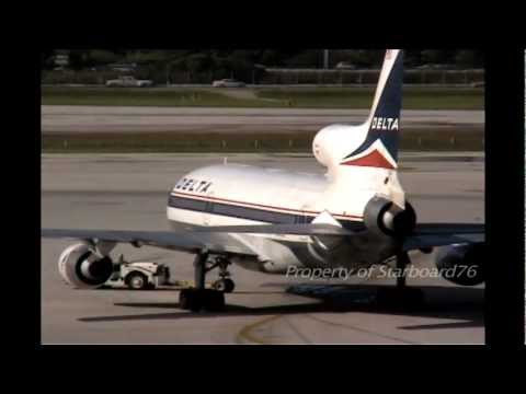 Delta Airlines L-1011 Tristar - in Miami, San Juan and Los Angeles International Airports