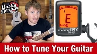Tuning Guitar - How to Tune Guitar with a Digital Tuner