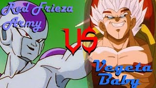 DBSCG Red Frieza Army VS Vegeta Baby