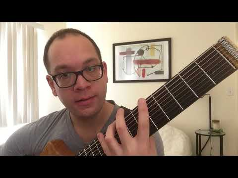 8-string guitar lesson 5: scales (drop e tuning)