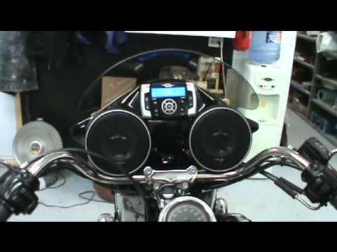 harley davidson fairing stereo system - youtube
