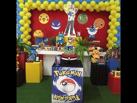 Fiesta de pokemon decoracion 2017 mesa de dulces ideas - Ideas decoracion fiesta ...