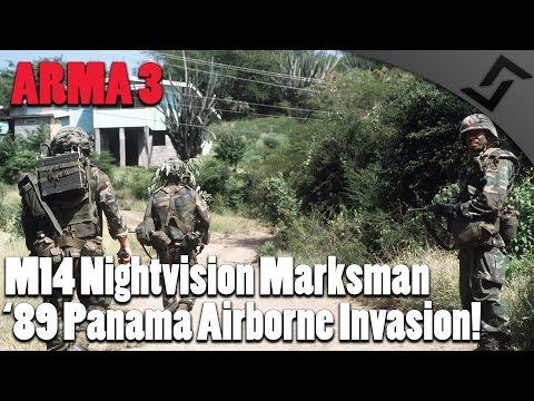 ARMA 3 - 1989 Panama Airborne Invasion - M14 Nightvision Marksman
