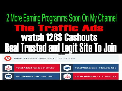 The Traffic Ads --  Complete Account Review --  Complete Withdrawals Hisotry - Best Revshare Site