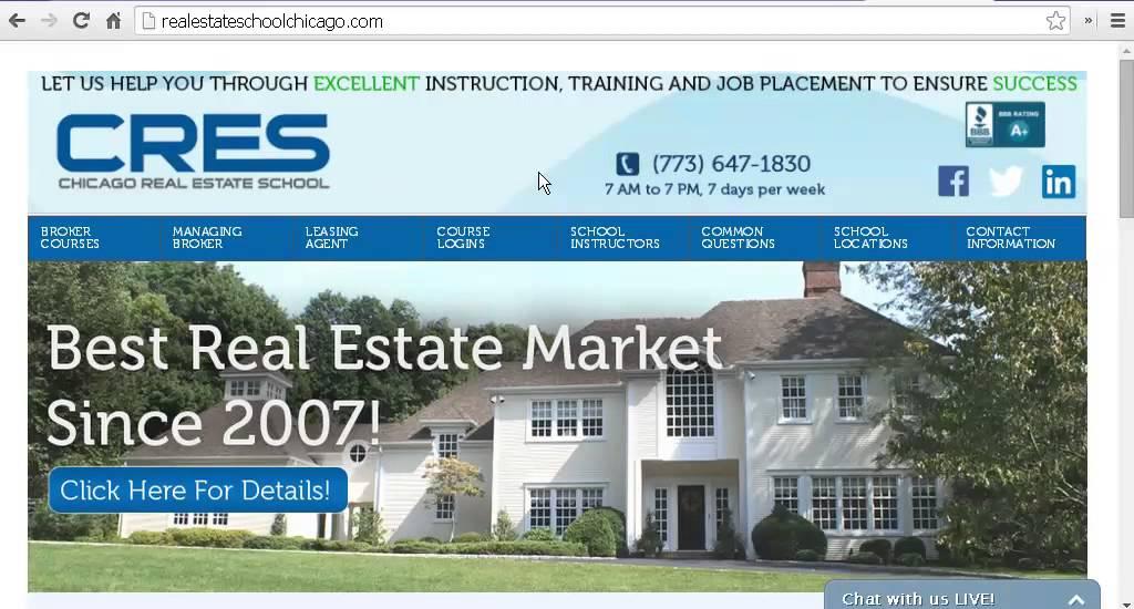 Chicago Real Estate School: New Website
