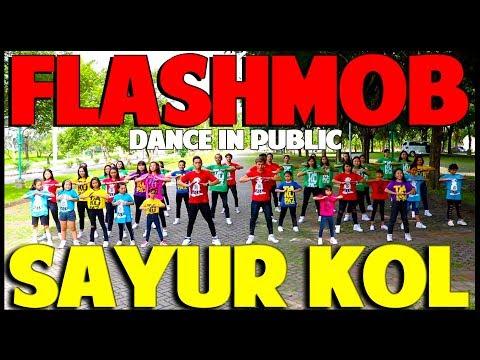sayur kol flashmob dance in public goyang viral choreography by diego takupaz