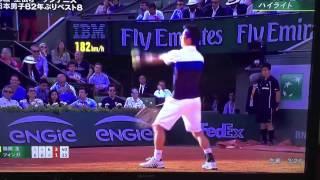 錦織 vs ツォンガ  全仏オープン準々決勝 ハイライト Nishikori v Tsonga