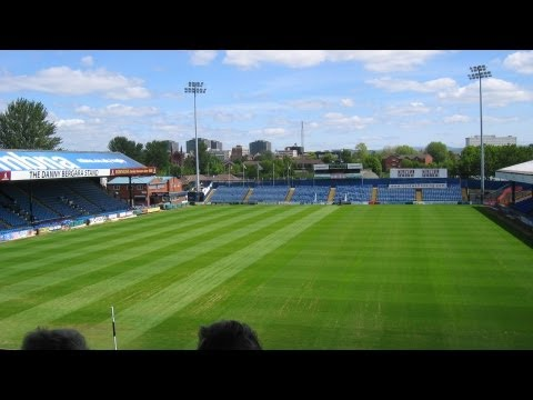 Time-lapse of mowing the pitch at Stockport Football ground during Beer Festival 2013.