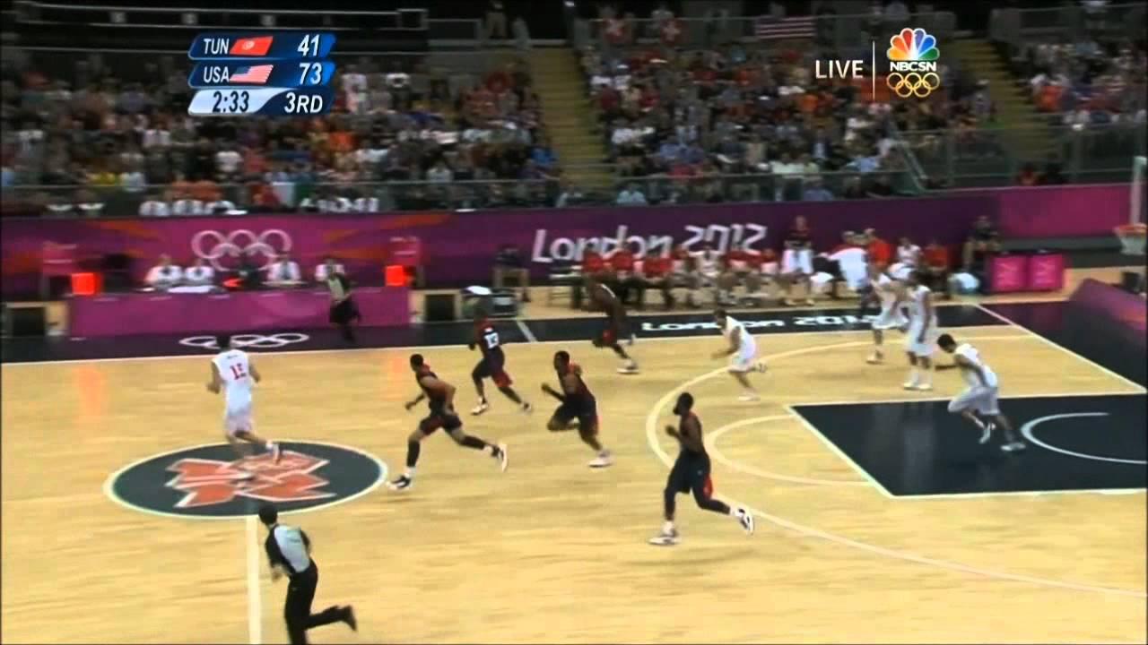 Usa Vs Tunisia Basketball 2012 Highlights Hd Youtube