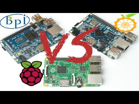 Raspberry Pi 2 VS Orange Pi 2 VS BPi-M2