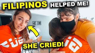 EMOTIONAL Reaction! FILIPINOS helped me SURPRISING my GIRLFRIEND
