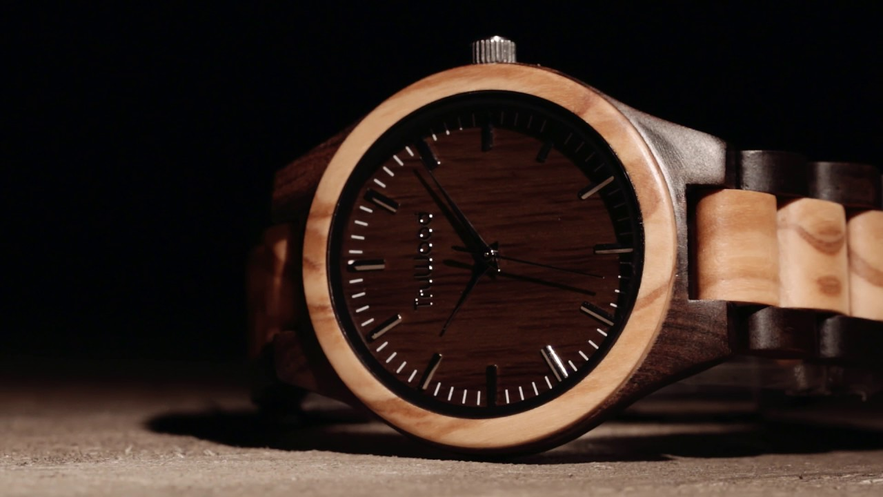 watches watch tree products treehut truwood wooden all wood hut ebony walnut