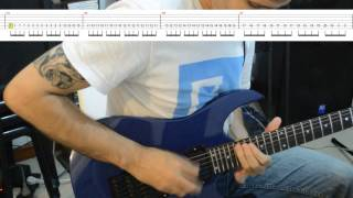Creeping Death solo lesson by David Ramirez (Backing Track + Tabs on screen + Slow tempo)