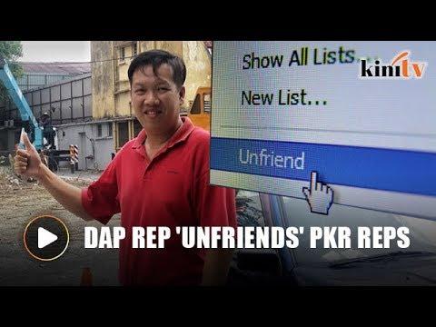 DAP rep 'unfriends' PKR reps over PAS