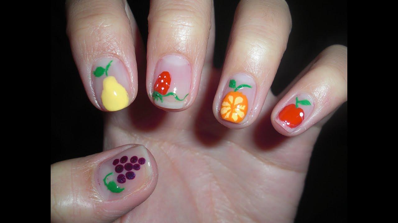 adorable fruits nail art design