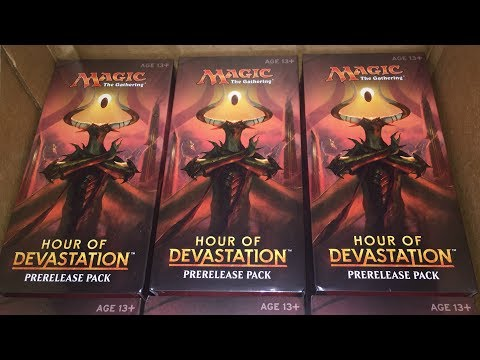 MASSIVE MTG PreRelease Case Box Opening Collection! | Amonkhet & Hour of Devastation #SimplySquad