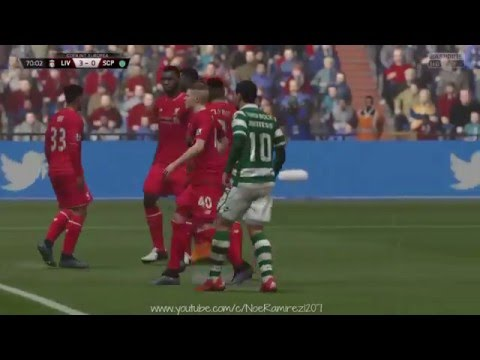 |PS4|(FIFA16)  Liverpool  vs Sporting C.Portugal - European International Cup |Game 3|