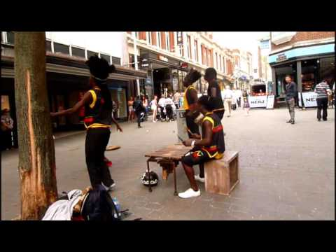Zimbabwe music and dance by SIYAYA, a group from Rotherham, who regularly busk in Lincoln