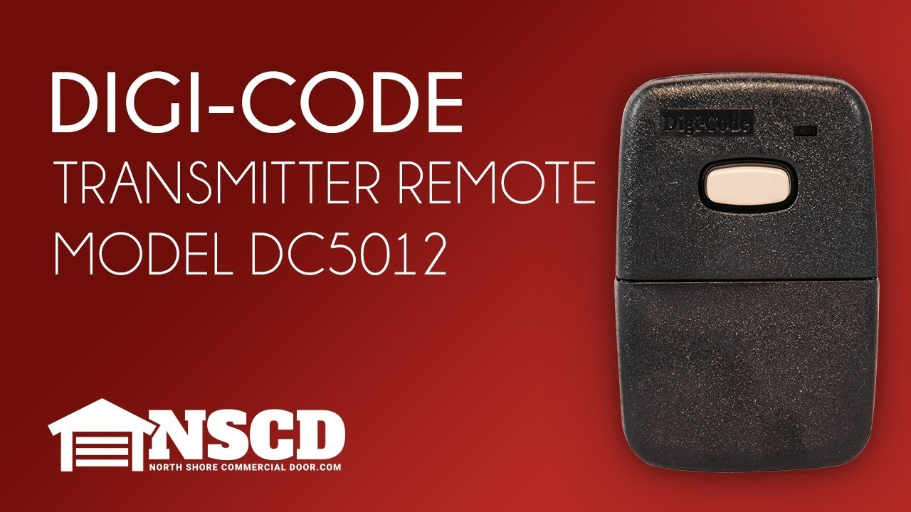Digi-Code 5012 10 DIP on//off Code Switch 310MHz Remote Stanley 1050 Compatable