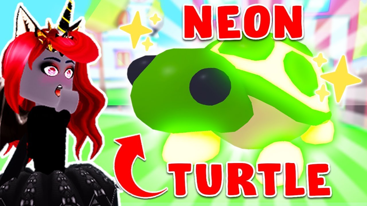 Turning Our Legendary Turtle Neon In Adopt Me Roblox Youtube