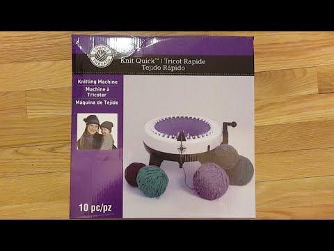 Loops & Threads Knitting Machine - Unboxing and My First Use LIVE!