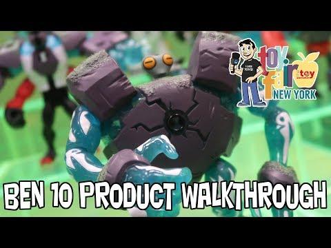Ben 10 Playmates Toys Product Walkthrough at New York Toy Fair 2018