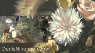 Голландский натюрморт. Как написать хризантему