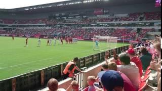 2016 06 05 - přátelák Česko - Korea, trestný kop Rosický (friendly CZE - KOR, Rosický free kick)