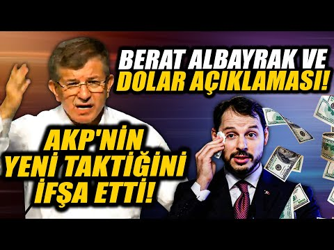 Ahmet Davutoğlu'ndan çok çarpıcı Berat Albayrak ve dolar açıklaması! AKP'nin taktiğini ifşa etti!