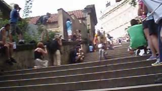Pražské schody 2010 - sjezd zámeckých schodů