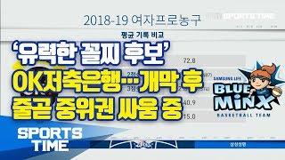 [WKBL] '유력한 꼴찌 후보' OK저축은행…개막 후 줄곧 중위권 싸움 중 (스포츠타임)