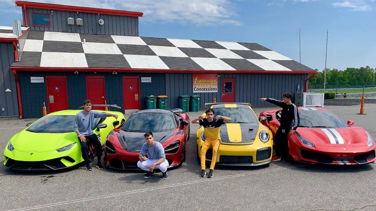 1 000 000 Supercar Race Ferrari Pista V Mclaren 720s V