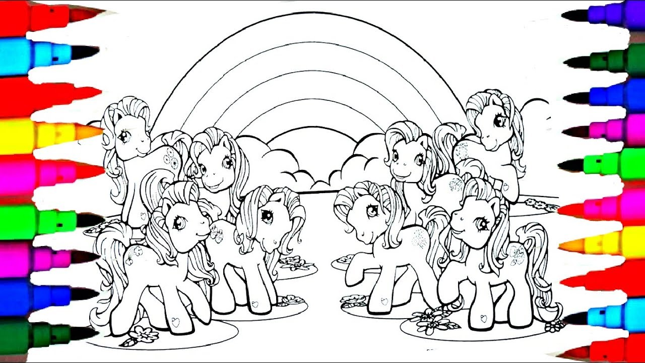 learn colors by coloring my little pony g3 coloring pages l disney brilliant coloring
