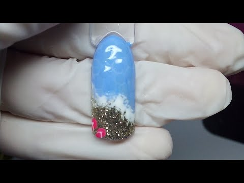 Nail art tutorial effetto mare thumbnail