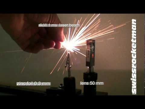 YAG Holmium laser drilling metal foils.mp4