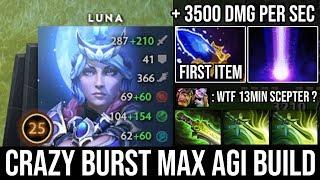 NEW Style Mid Luna 13Min Scepter | Crazy Burst Damage Deleted Alchemist with Max Agi 27Kills DotA 2