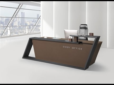 most beautiful reception desk design   youtube