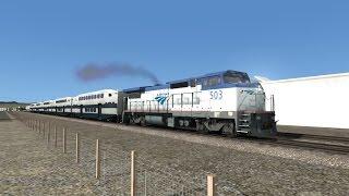 ts2016 hd operating amtrak ge dash 8 32bwh 503 on metrolink train 688 la to laguna niguel