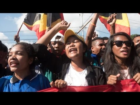 Thousands protest outside Australian embassy in East Timor over maritime border dispute