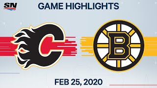 NHL Highlights | Flames vs. Bruins - Feb. 25, 2020