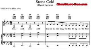Скачать Stone Cold Sheet Music Demi Lovato Piano Sheet Music