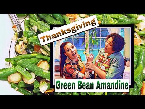 Green Bean Casserole. Almondine Style!  TASTY And EASY Thanksgiving Dinner Side Dish.