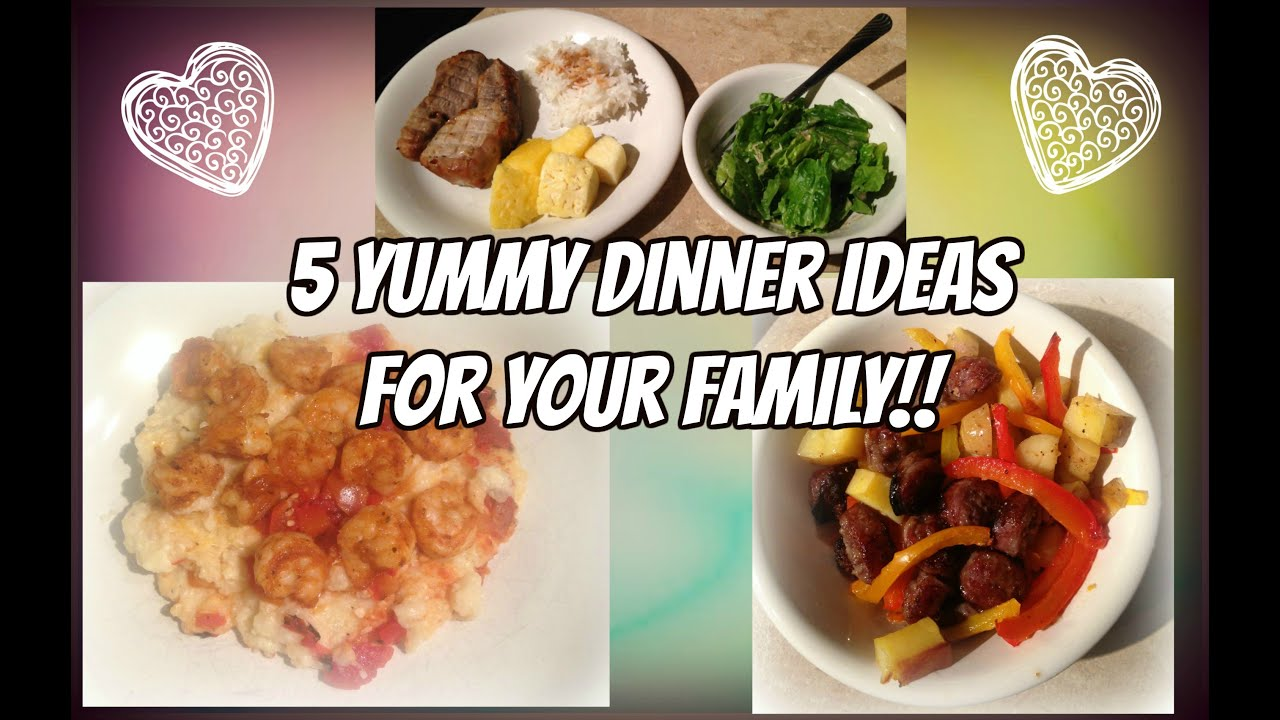 Quick and easy family dinner ideas 5 yummy meals youtube for Quick and easy dinner recipes for family